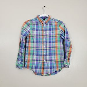 Polo Ralph Lauren Plaid Multicolored Long Sleeve S